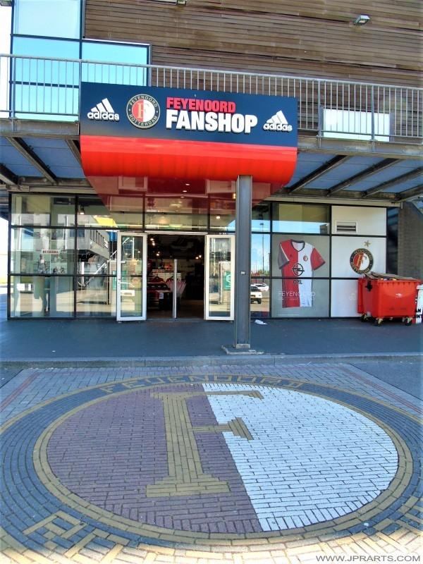Feyenoord Fanshop in Rotterdam, Nederland