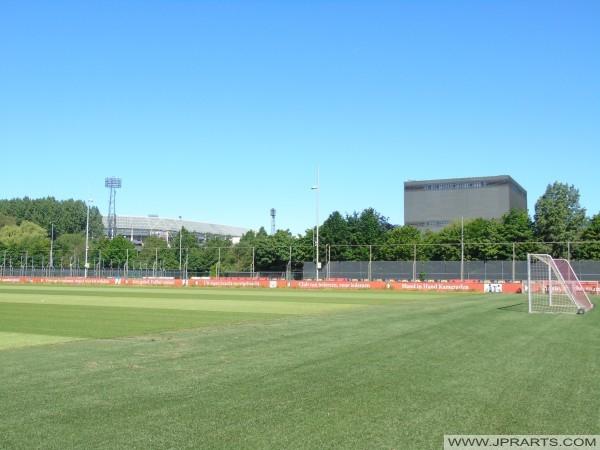 Feyenoord Trainingscomplex Varkenoord in Rotterdam, Nederland