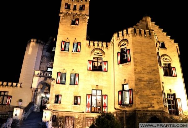 Hotel Kasteel Geulzicht bij Nacht (Berg en Terblijt, Nederland)