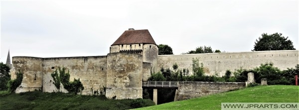 Fortified walls of the Caen Castle in France