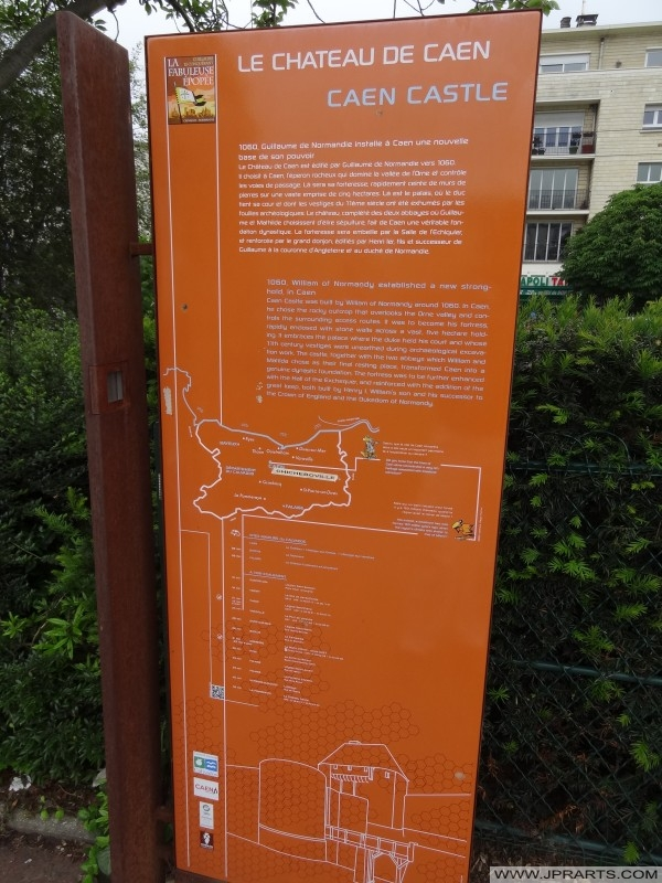 Information about Caen Castle, France