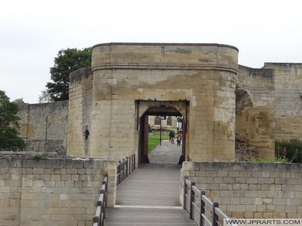 Le Château de Caen vue sur l'Entrée Sud