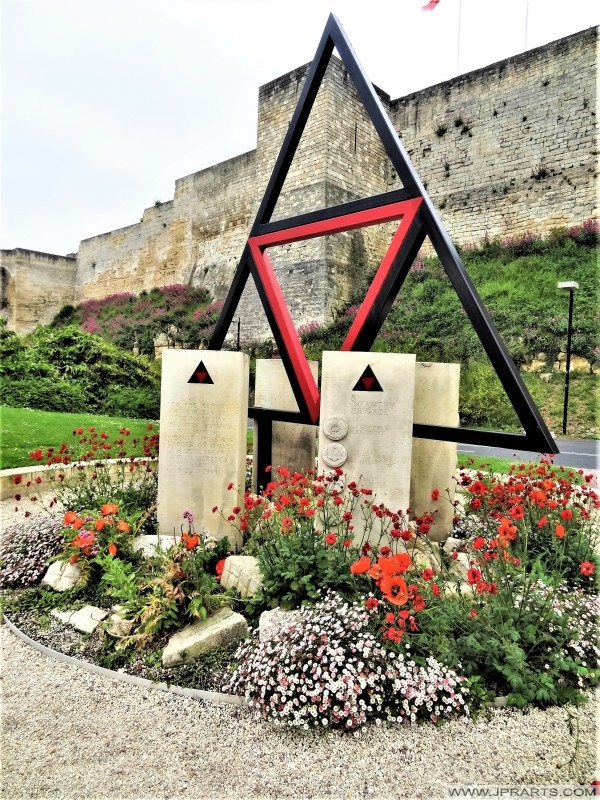 Monument to the British 3rd Division in Caen, France.