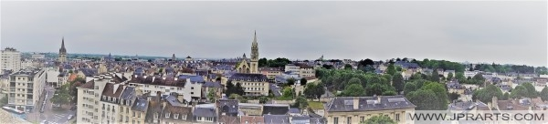 Vue Panoramique de Caen, France