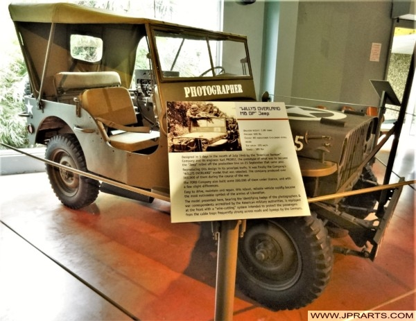 Willys Overland MB GP Jeep for Photographers in WWII (Museum of the Battle of Normandy in Bayeux, France)