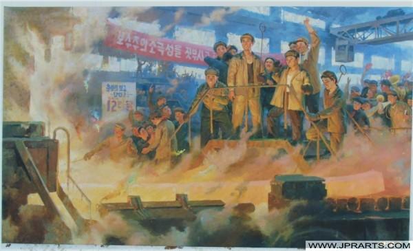 행복한 노동자들과의 북한 회화