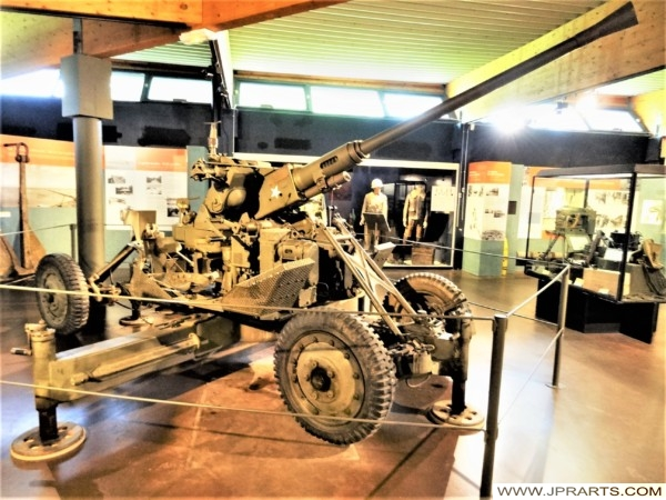 American Anti Aircraft Gun 40mm Bofors in the Normandy Battle Museum (Bayeux, France)