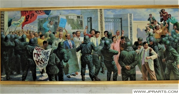 Confrontation on a North Korean Painting
