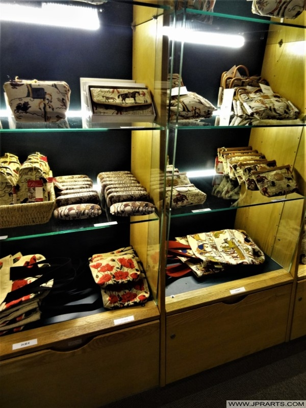 Gifts and Souvenirs in the Bayeux Tapestry Museum in Normandy, France