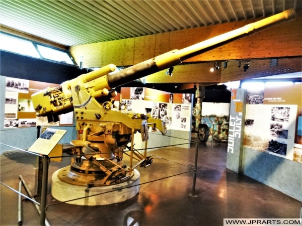 Naval Gun at the Museum of the Battle of Normandy (Bayeux, France)