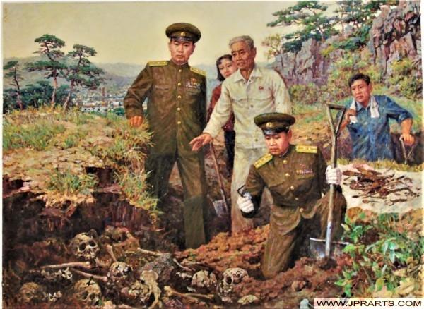 North Korean paintings with anti-American propaganda