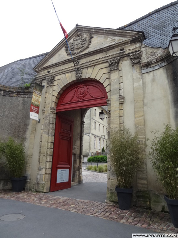 Entrance to the Bayeux Tapestry Museum in Normandy, France