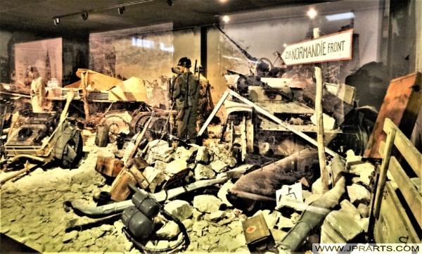Zur Normandie Front (Normandie-Schlacht Museum in Bayeux, Frankreich)