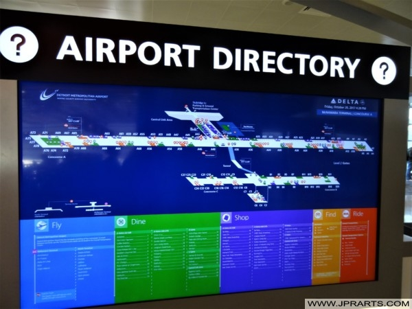 Airport Directory at Detroit Metropolitan Airport