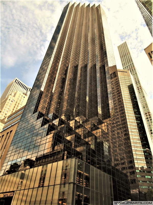 Stepped Facade Of The Trump Tower New York Usa