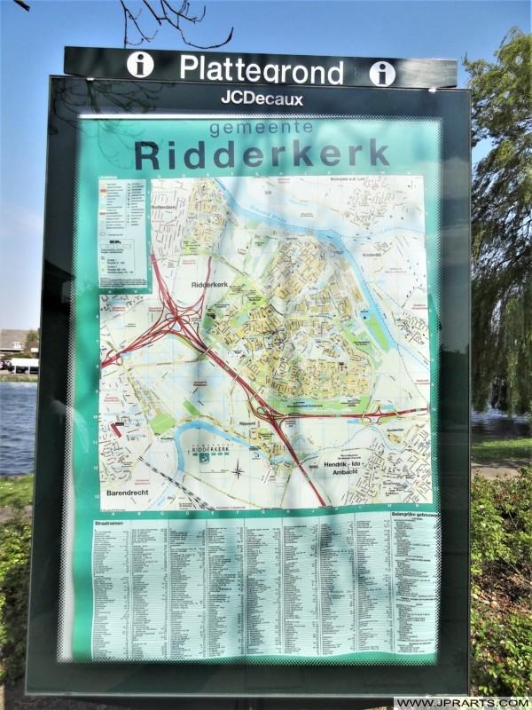 Plattegrond van Ridderkerk, Nederland