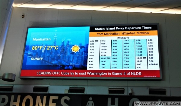 Staten Island Ferry Departure Times from Manhattan (New York, USA)