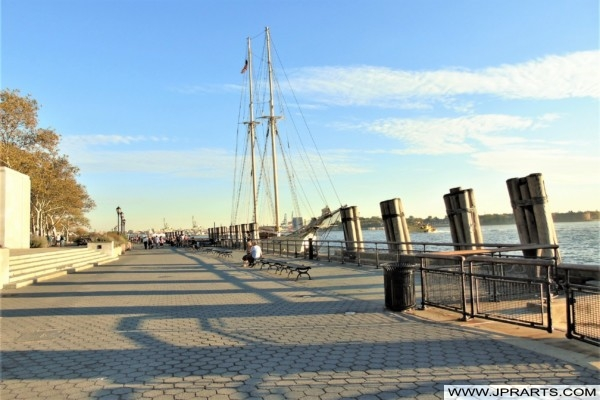 Battery Park Promenade in New York, USA