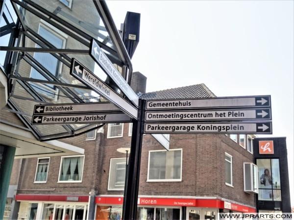 Wegwijzers in Ridderkerk, Nederland