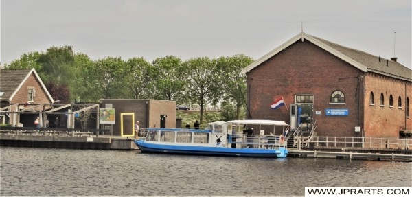 Jetty of the Tour Boat in Kinderdijk, the Netherlands