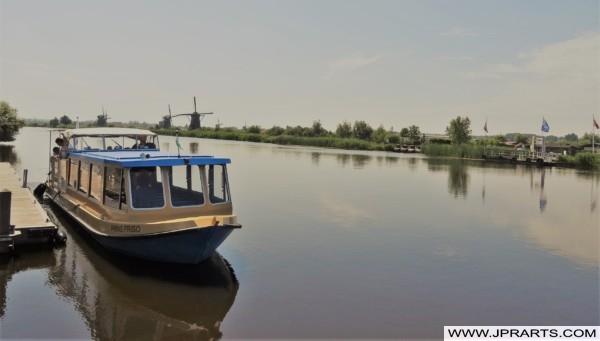 Tour Boat in Kinderdijk, the Netherlands