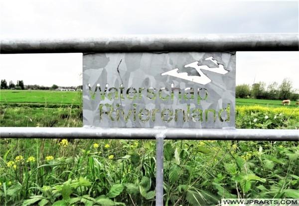 Waterschap Rivierenland in de Alblasserwaard, Nederland