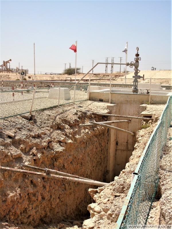 أول بئر نفطية في الجانب العربي من الخليج العربي (متحف نفط البحرين)