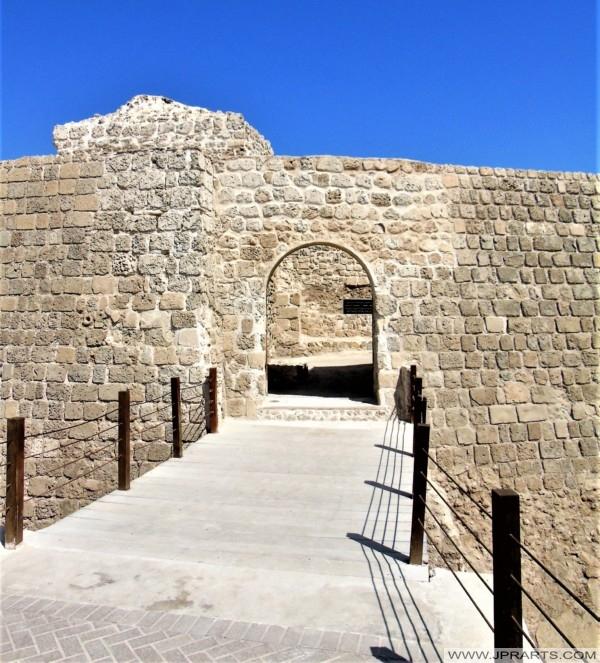 مدخل لقلعة البحرين