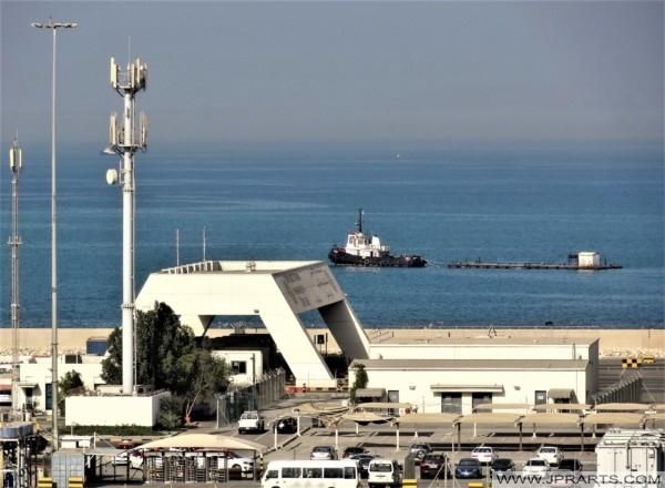 Gateway to the Khalifa Bin Salman Port in Bahrain