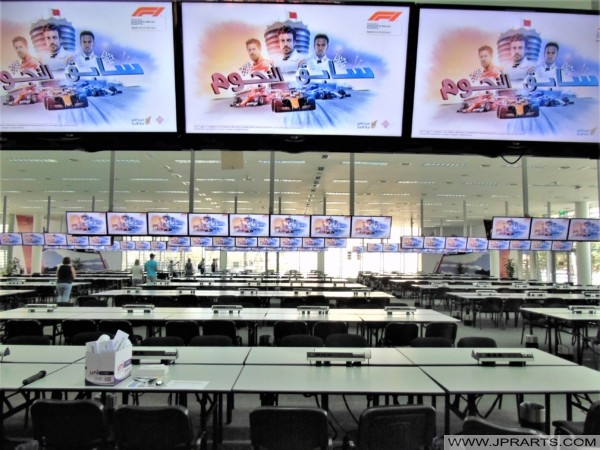 International Media Centre of the Bahrain Circuit in the run-up to the Grand Prix of 2018
