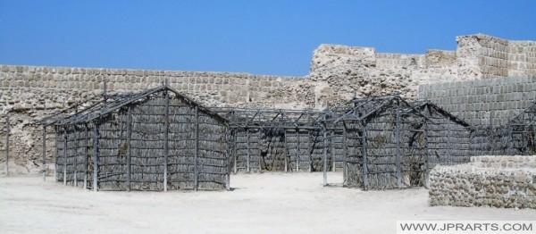 Arish or Barasti Huts in Bahrain