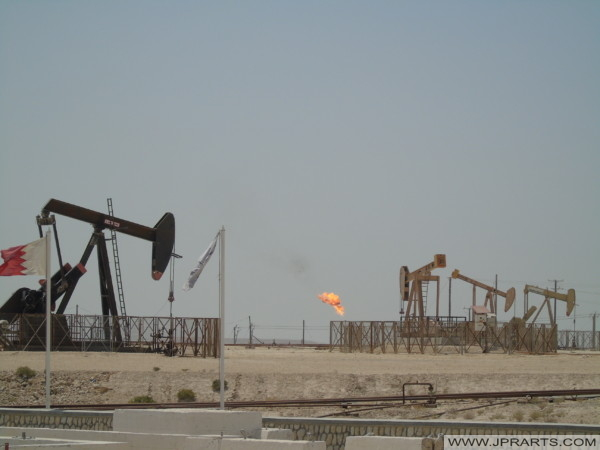 Pumpjacks in the Landscape of Bahrain