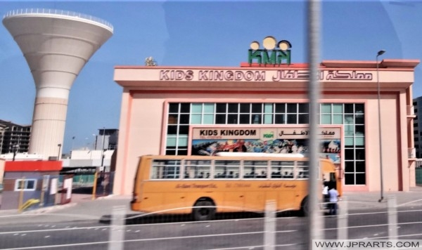 Schoolbus in Bahrain (Kids Kingdom in Manama)