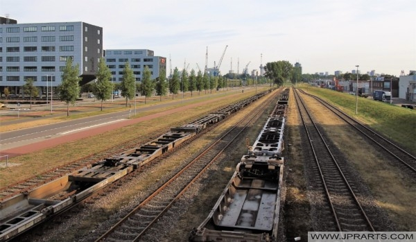 Rail Tracks and Train Chassis (Rotterdam, the Netherlands)