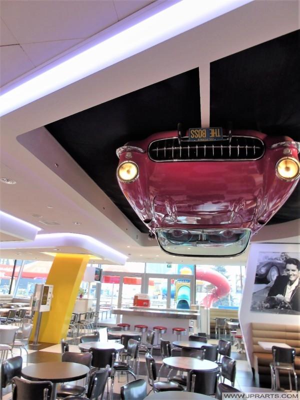 Chevrolet Corvette on the Ceiling in the McDonald's (Best, The Netherlands)
