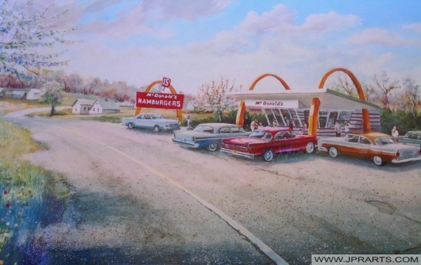 McDonald's in the 1950's (Lithograph)